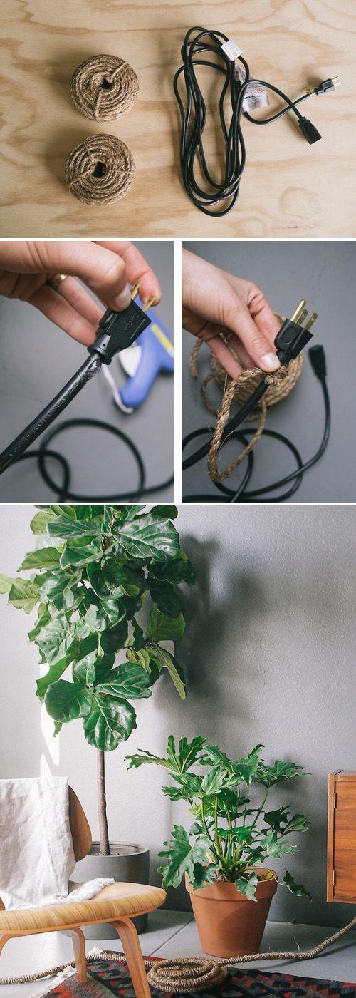 13 Astuces Pour Dissimuler Les Câbles Électriques Ou Bien Les
