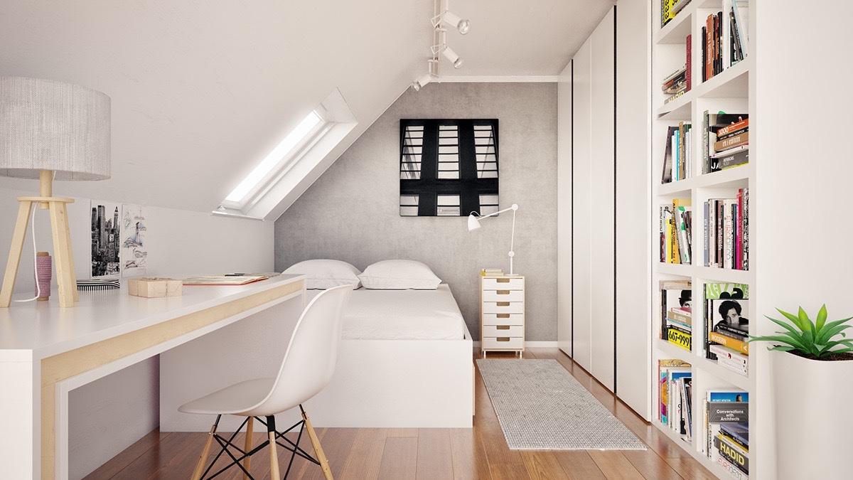 Ces combles ont été transformés en de magnifiques chambres à ...