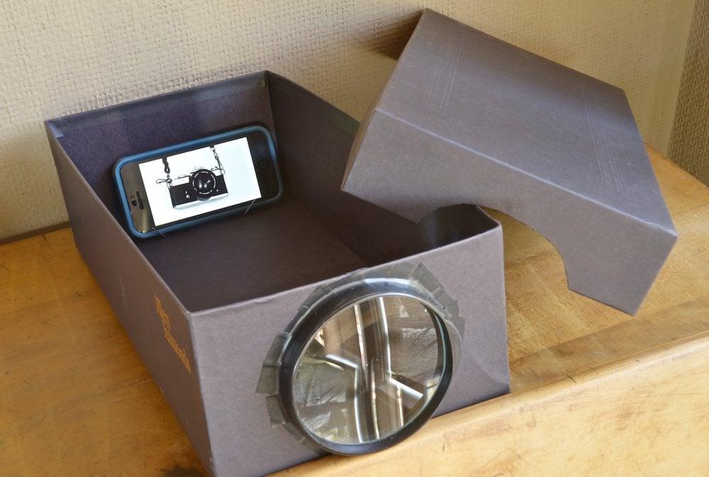 fabriquez vous un projecteur mural avec une bo te chaussures et un t l phone portable. Black Bedroom Furniture Sets. Home Design Ideas