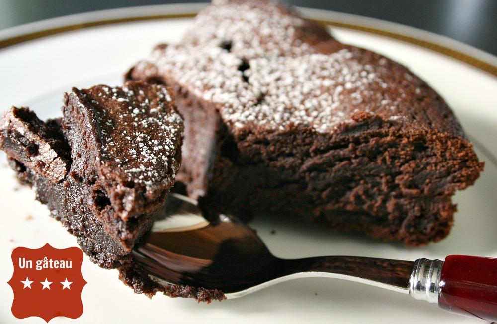 recette gourmande et diététique : le gâteau au chocolat sans
