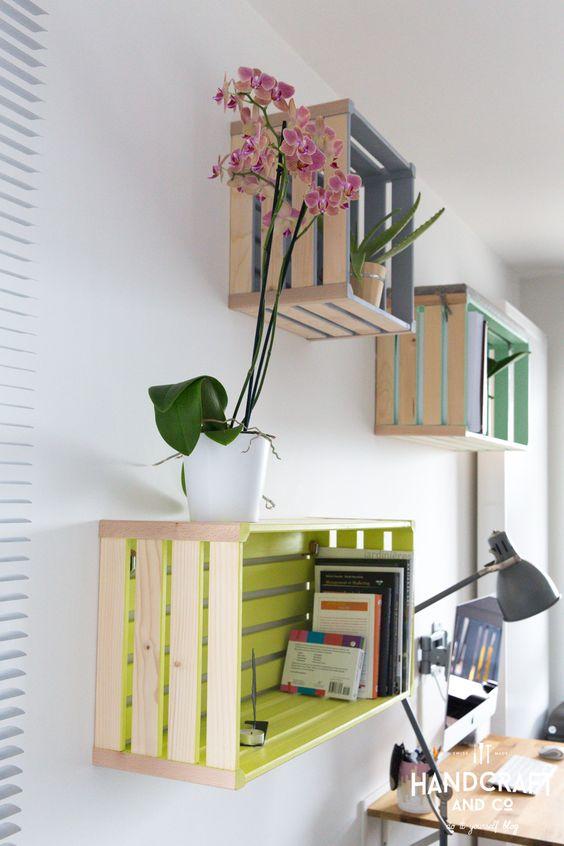 35 ides de recyclage des cageots en bois ils trouveront une place dans votre intrieur - Meuble Avec Caisse En Bois