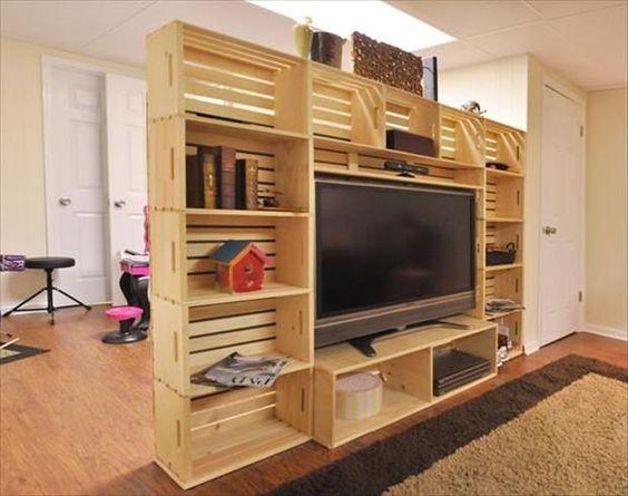 35 id es de recyclage des cageots en bois ils trouveront. Black Bedroom Furniture Sets. Home Design Ideas