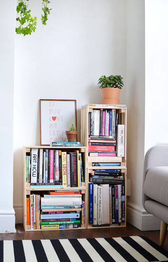 35 id es de recyclage des cageots en bois ils trouveront une place dans votre int rieur. Black Bedroom Furniture Sets. Home Design Ideas