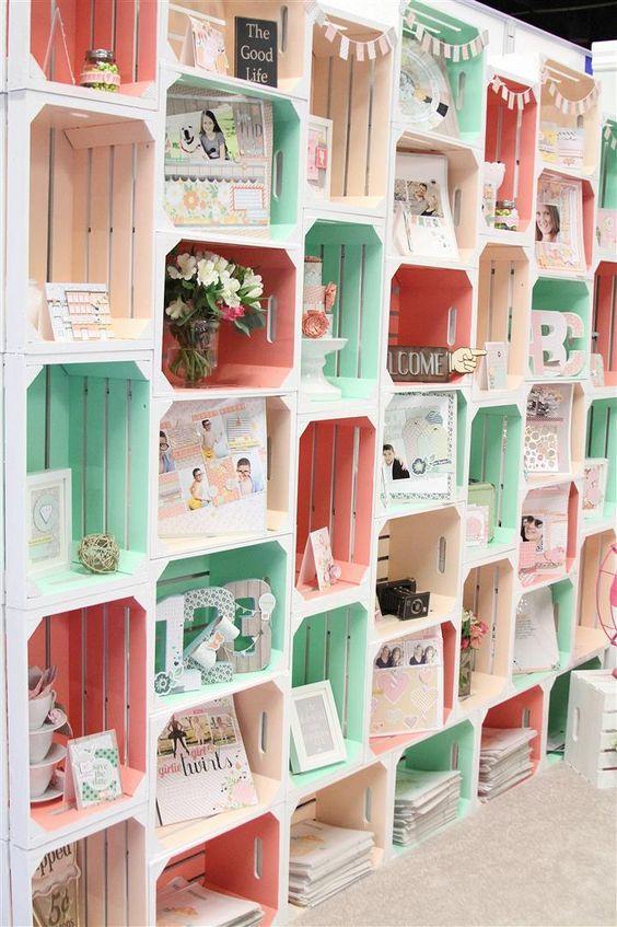 35 id es de recyclage des cageots en bois ils trouveront une place dans votre int rieur - Deco bibliotheque originale ...