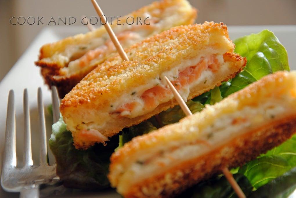 Le plat express du jour le croque monsieur au saumon et for Congeler du pain frais