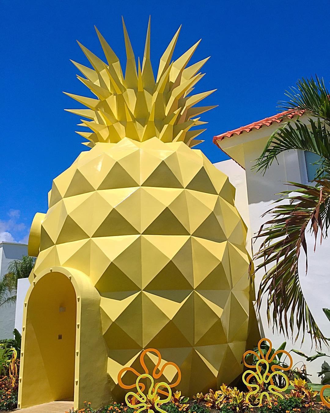Ananas Bob L Éponge vous en rêviez ? la maison-ananas de bob l'Éponge existe enfin pour