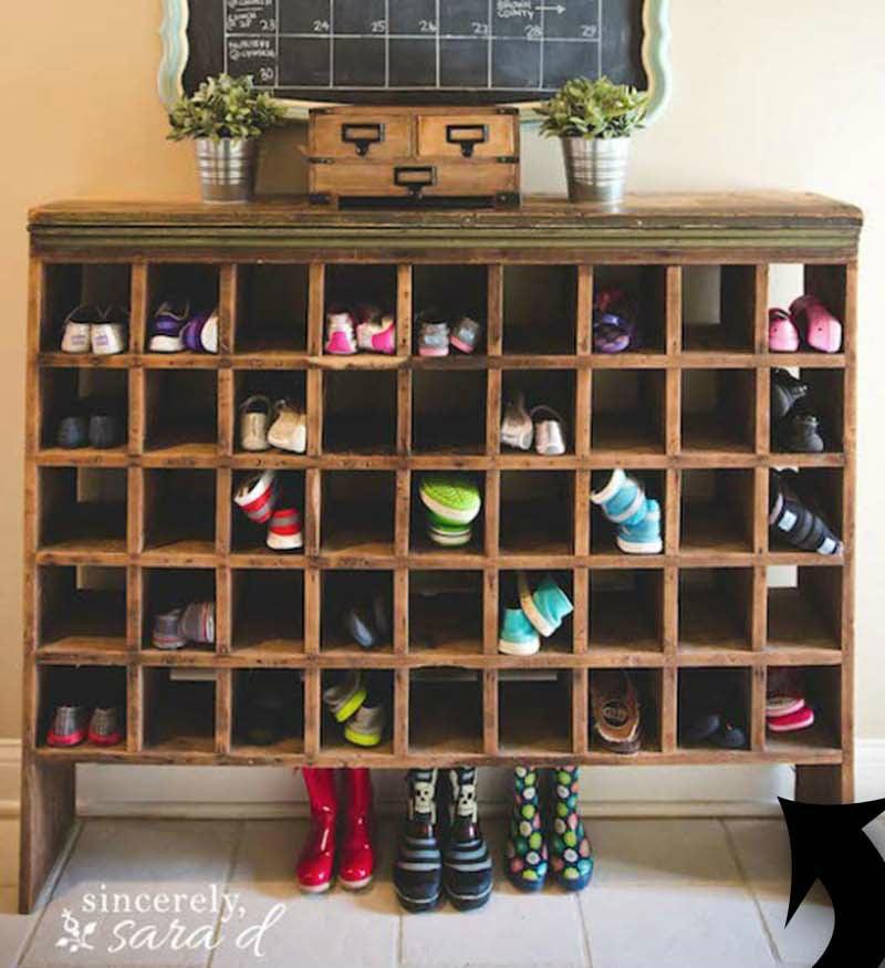 idées de rangement pour les chaussures afin de les mettre en valeur