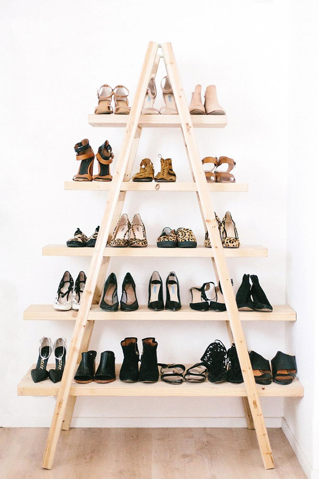 Porte Chaussures En Bois 35 idées de rangement pour les chaussures afin de les mettre