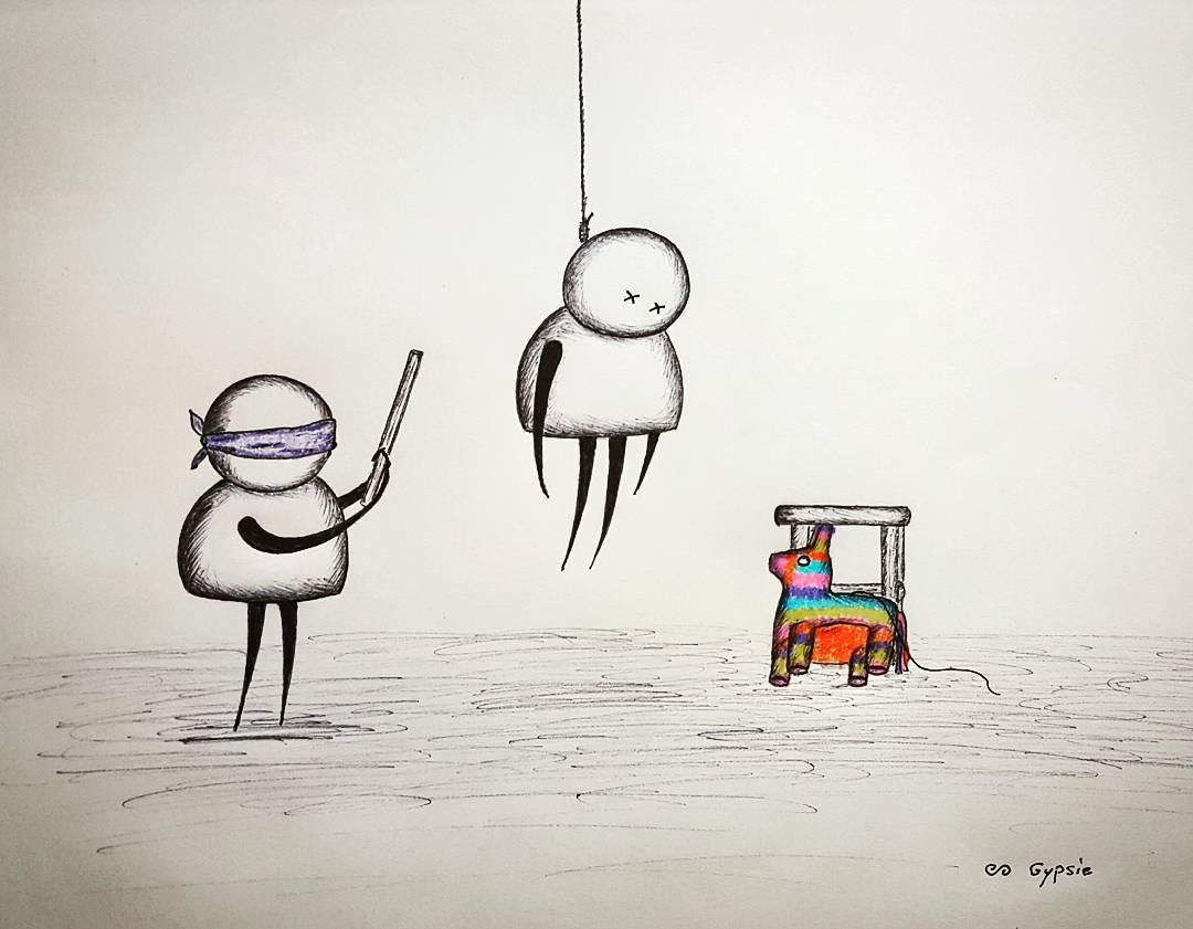 17 dessins la fois tr s mignons et tr s glauques sur l 39 amour et la mort qui vont vous faire - Dessins triste ...