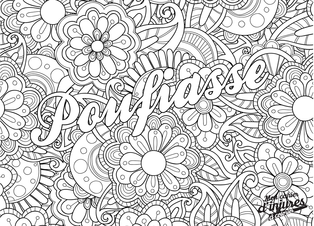 coloriage anti stress insulte