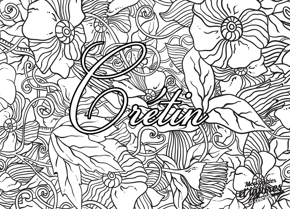 Coloriage adulte insulte - Coloriages adultes ...