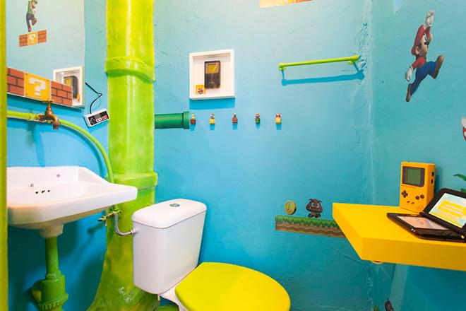 Il a redécoré entièrement sa chambre aux couleurs du jeu vidéo