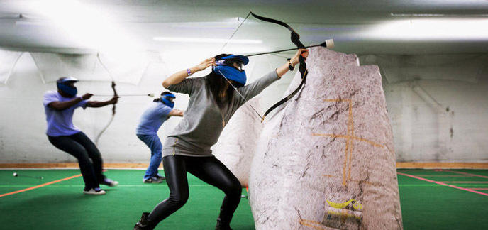 Oubliez le Paintball, mettezvous à l Archery Tag ~ Arc En Bois Decathlon