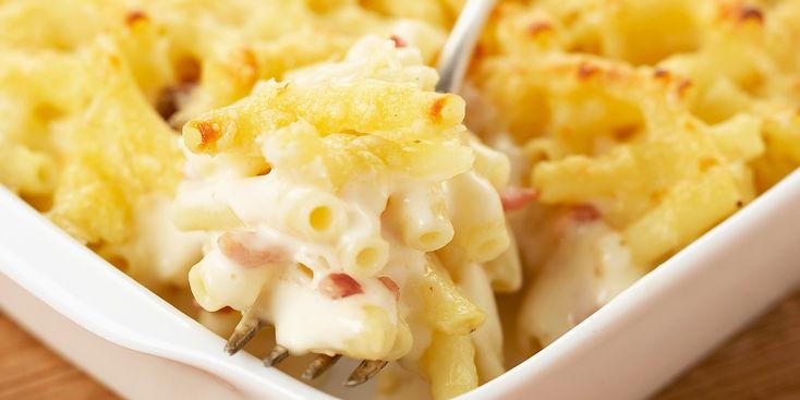 la recette express du jour le gratin de p 226 tes au jambon et au fromage pr 234 t en 10 minutes