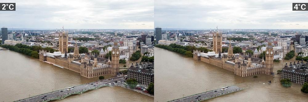 Villes et réchauffement climatique Londres%2C%20Angleterre