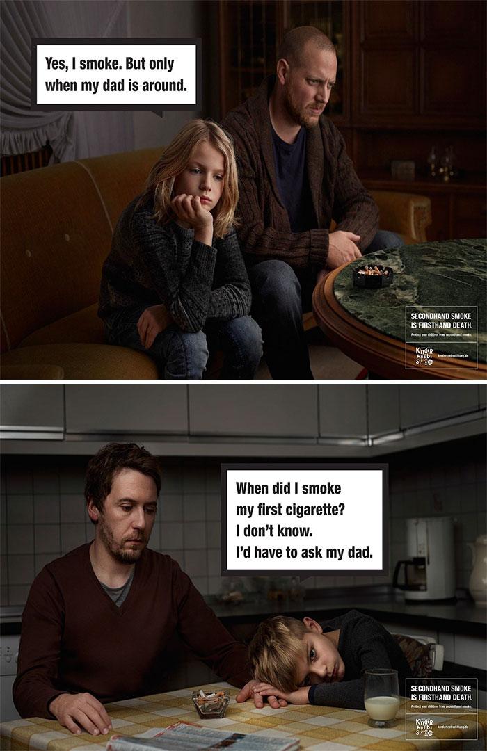 20 campagnes anti tabac choc pour encourager celles et for Enlever odeur cigarette chambre