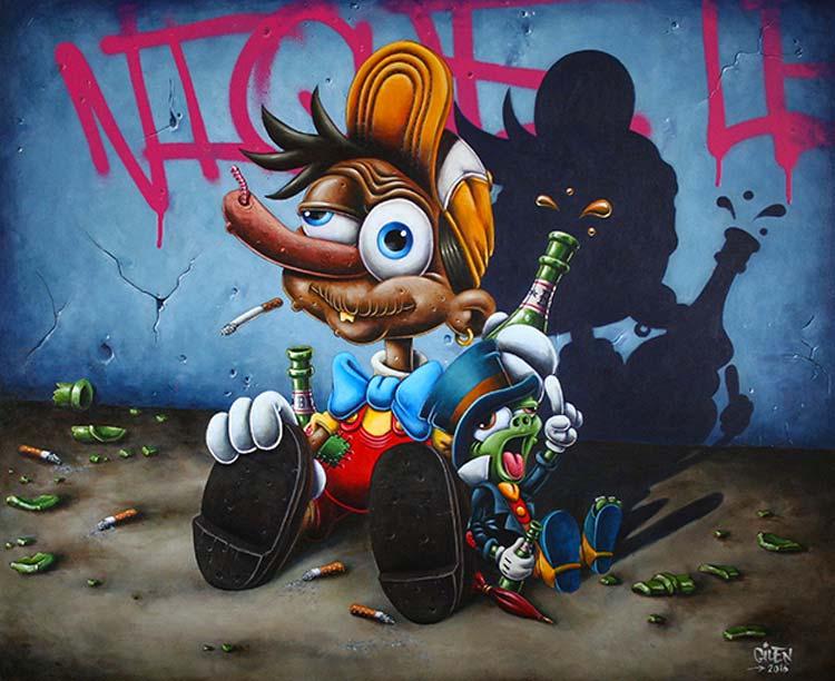 Ce dessinateur a d tourn l 39 univers disney fa on rebelle et le r sultat plut t trash est - Mickey et plutot ...