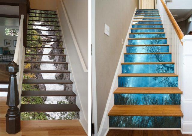 La Meilleure Decoration Pour Escaliers Ces Autocollants