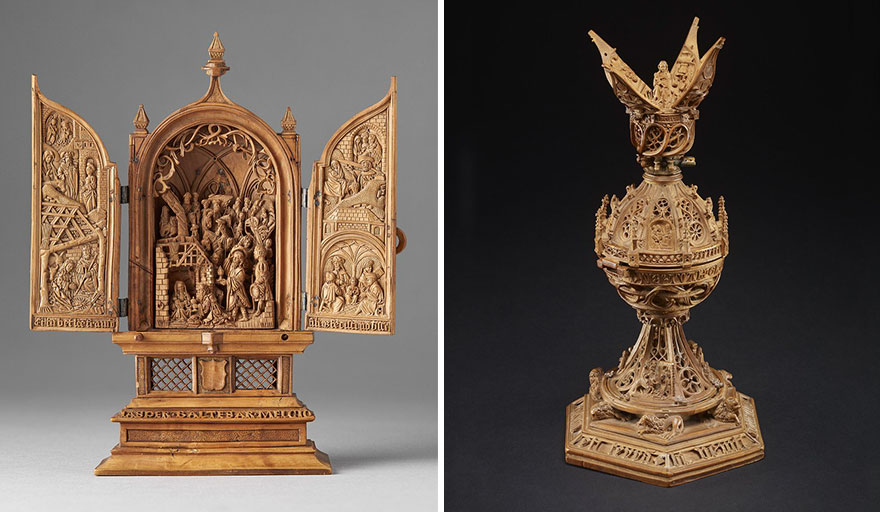 Iconographies Religieuses 16 siècle  Miniature-boxwood-carvings-16th-century-17