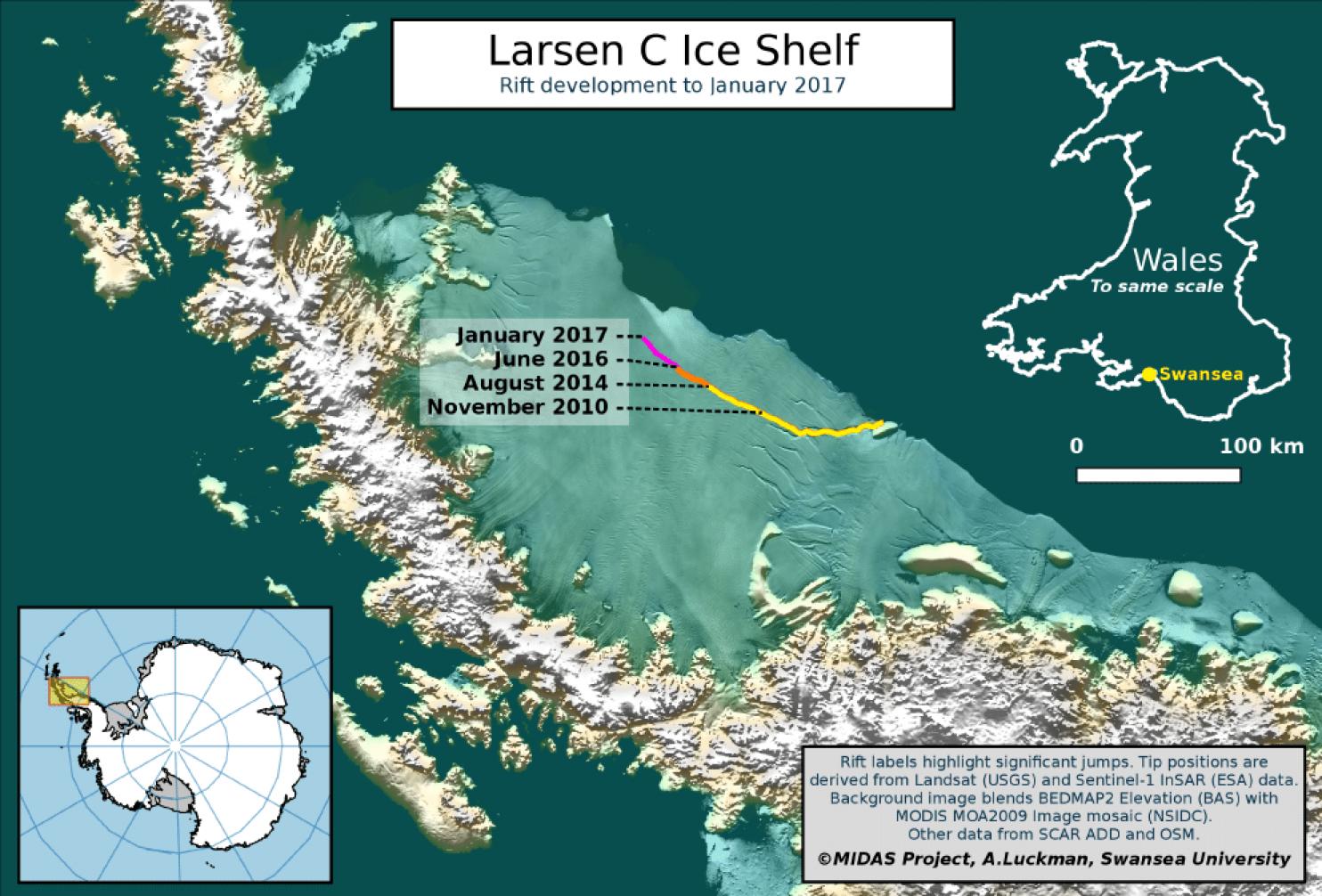En antarctique une norme fissure dans la glace qui - Frigo qui fait de la glace ...