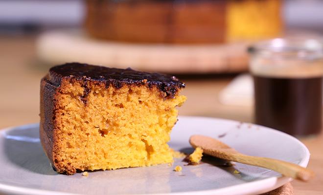 le gâteau brésilien au nappage chocolat de carottes de france, la