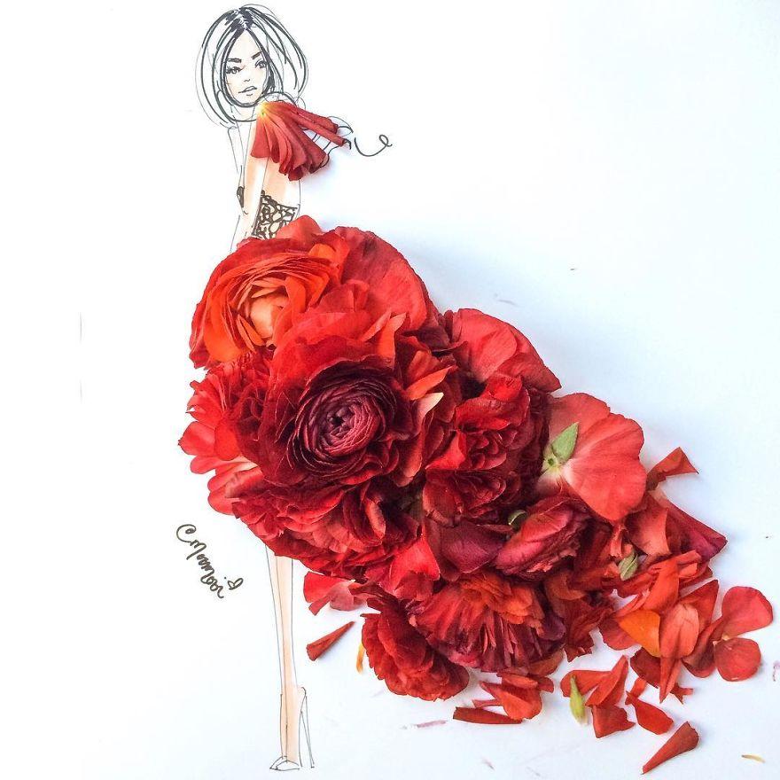 elle confectionne des illustrations sublimes avec des l u00e9gumes et des p u00e9tales de fleurs