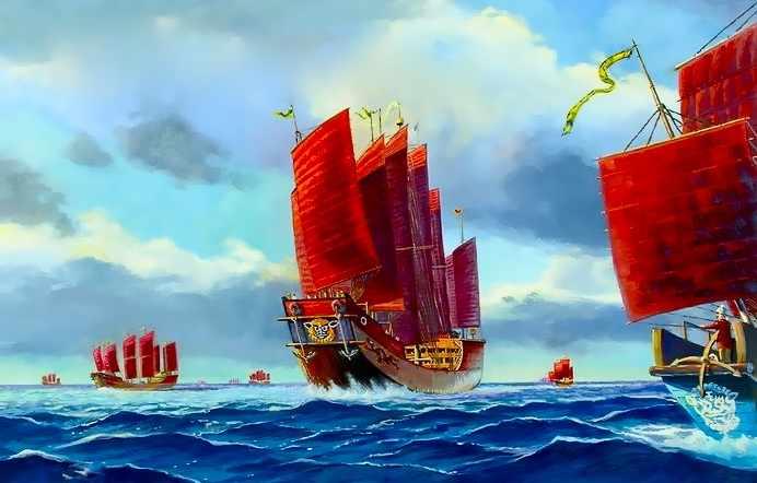 Il y a 500 ans, bien avant Christophe Colomb, l'Empire Chinois dominait toutes les mers du globe...Par Céline Gautier                      Great%20Treasure%20Fleet