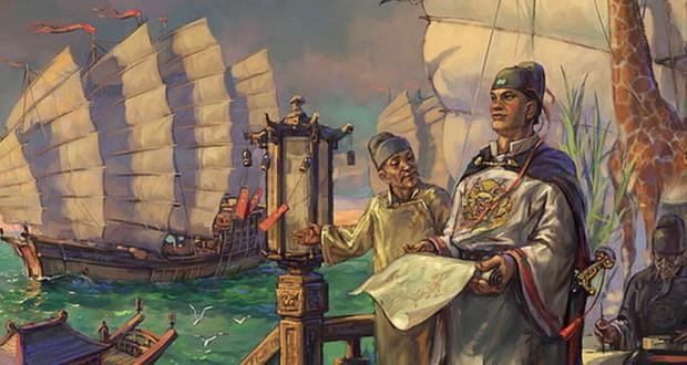 Il y a 500 ans, bien avant Christophe Colomb, l'Empire Chinois dominait toutes les mers du globe...Par Céline Gautier                      Muslim-explorer-Zheng-He-620x330