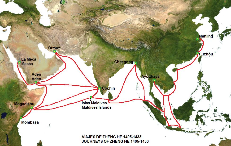 Il y a 500 ans, bien avant Christophe Colomb, l'Empire Chinois dominait toutes les mers du globe...Par Céline Gautier                      Zheng_He