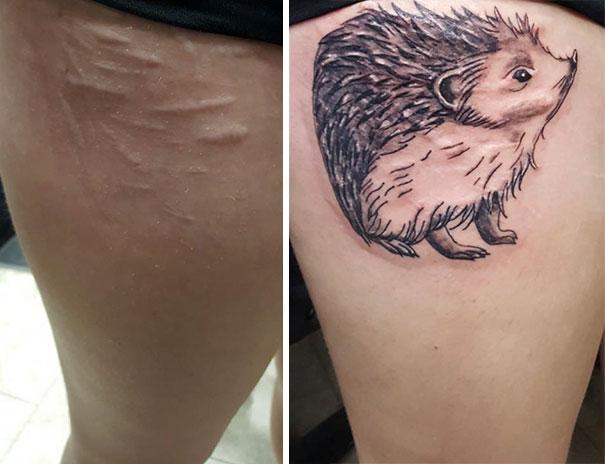 Des Artistes Tatoueurs Transforment Les Cicatrices Pour Les Rendre