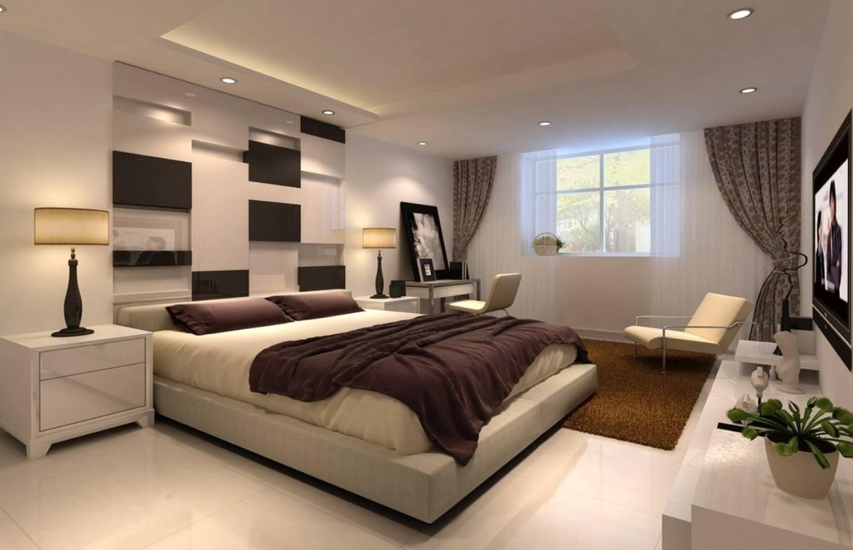 Chambre Mur Noir Et Blanc : Modern Minimalist Bedroom Design