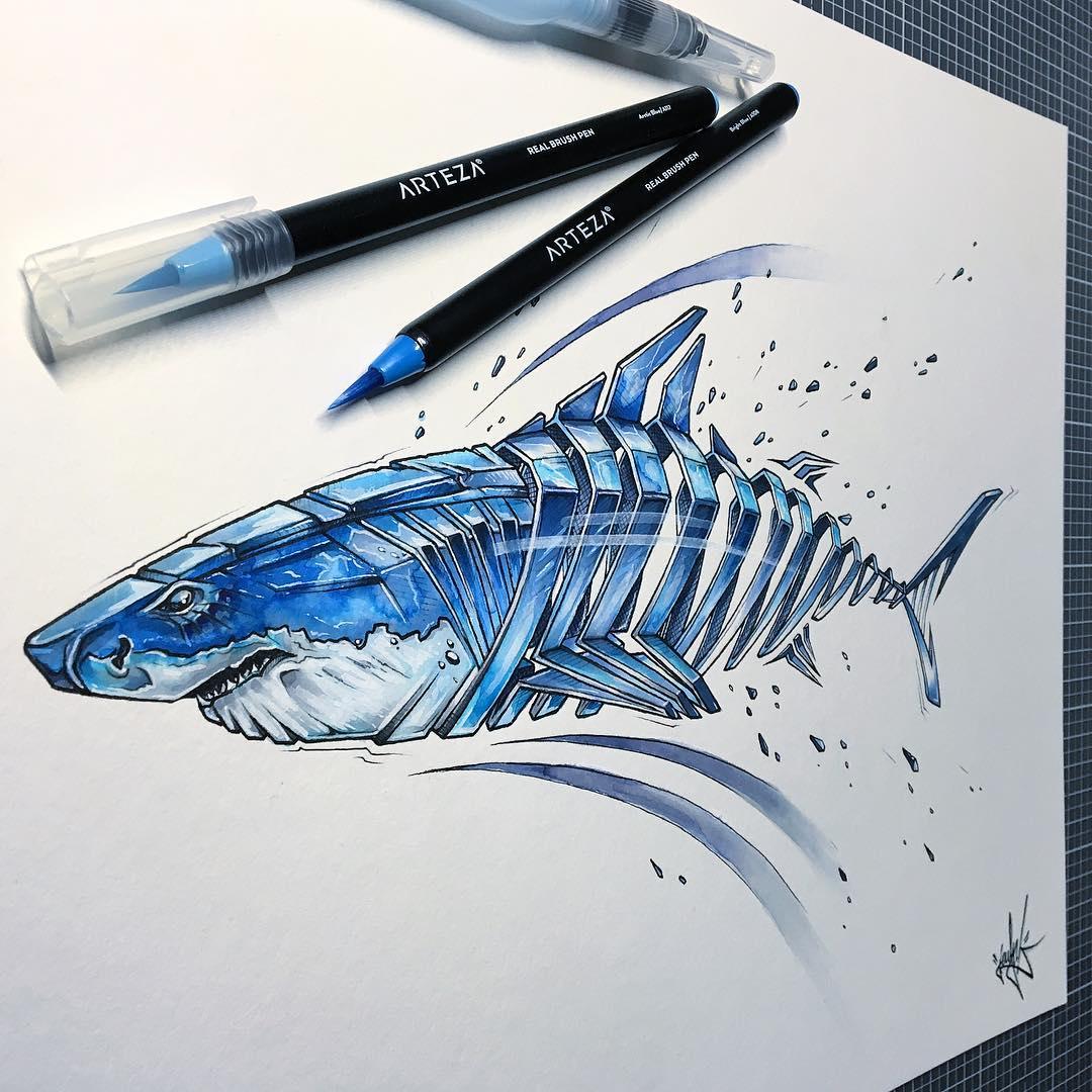 Ce dessinateur illustre des animaux sous leur forme ...