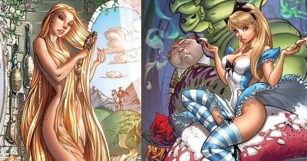 12 princesses disney dans une version sexy d conseill e - Fille de manga nue ...