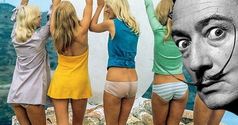 Connaissiez-vous cet étrange shooting photo, à la fois sexy et surréaliste, de Salvador Dalí pour Playboy, réalisé en 1973 ?