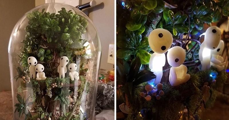 Elle fabrique un terrarium « Princesse Mononoke » pour sa fille... Et on veut le même !