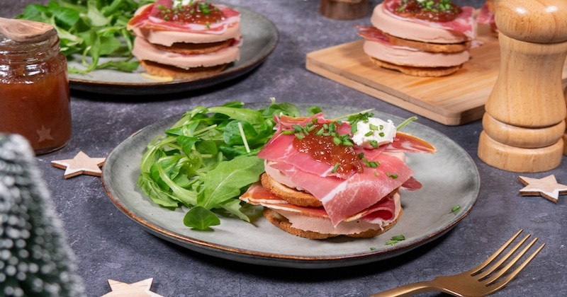 mille-feuilles au foie gras
