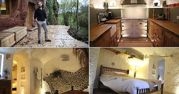 Il crée une maison moderne et tout confort... dans une grotte vieille de 250 millions d'années!