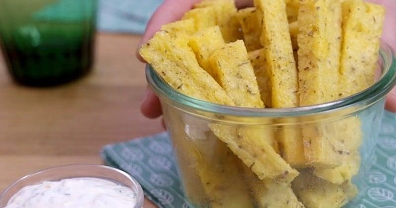 frites à la polenta