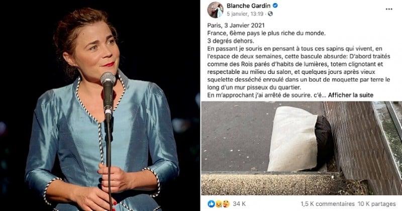 Le coup de gueule de l'humoriste Blanche Gardin contre le gouvernement pour son inaction envers les sans-abri