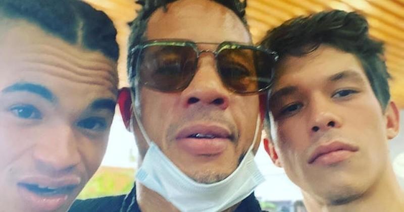 JoeyStarr dévoile un selfie de tournage du biopic sur NTM, avec les deux acteurs principaux