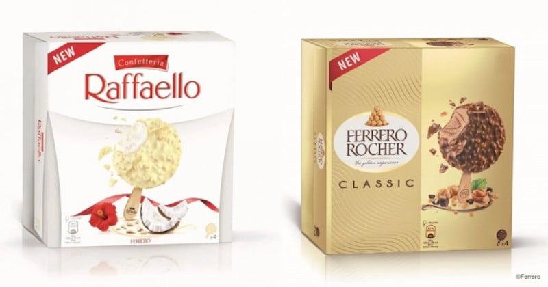 Ferrero Rocher et Raffaello existent désormais en version glacée !