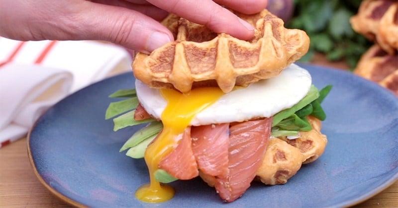 Redécouvrez le burger avec notre version aux gaufres patates douces!