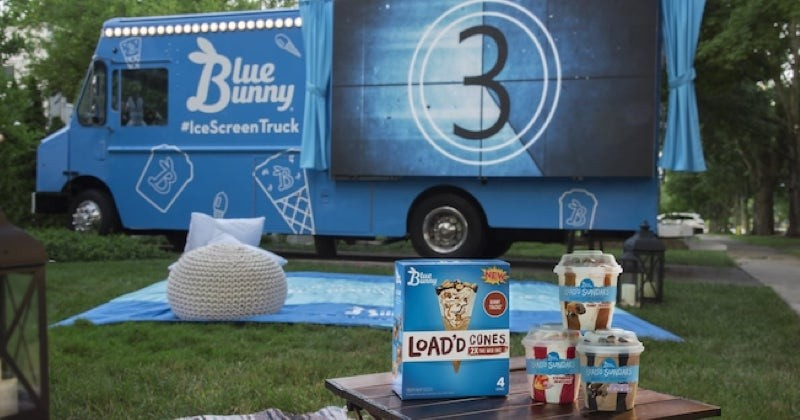 Un Food Truck se transforme en écran de cinéma !