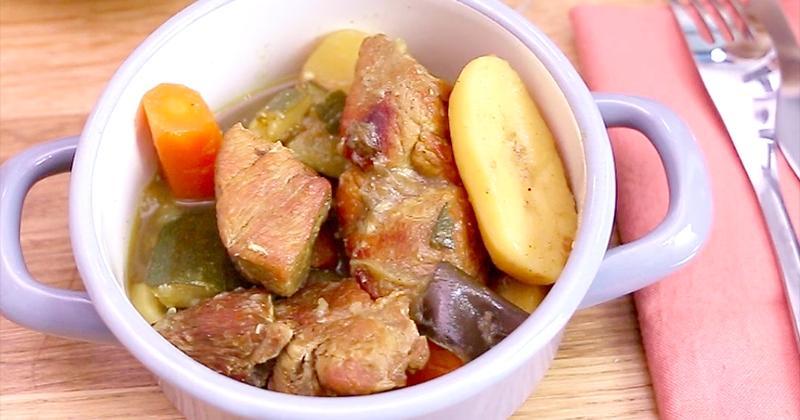 colombo au porc et aux légumes