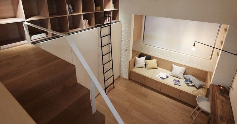 Parfaitement agencé, vous ne croirez jamais que cet appartement ne fait que 22 mètres carrés!
