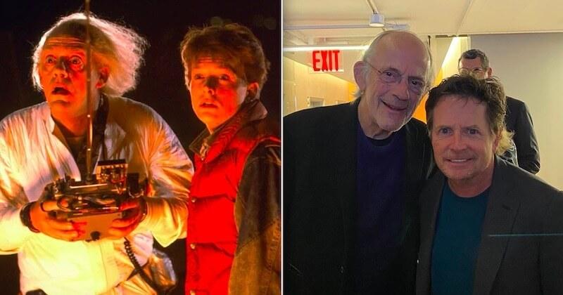« Doc et Marty » réunis 35 ans après la sortie de « Retour vers le futur »