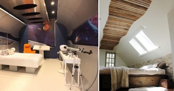 Id es de d co 5 plafonds super originaux pour changer du for Lit qui monte au plafond