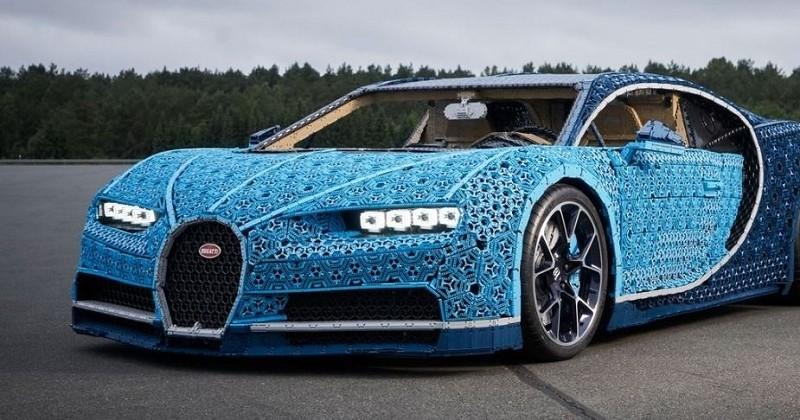 LEGO réalise une Bugatti Chiron grandeur nature avec 1million de pièces