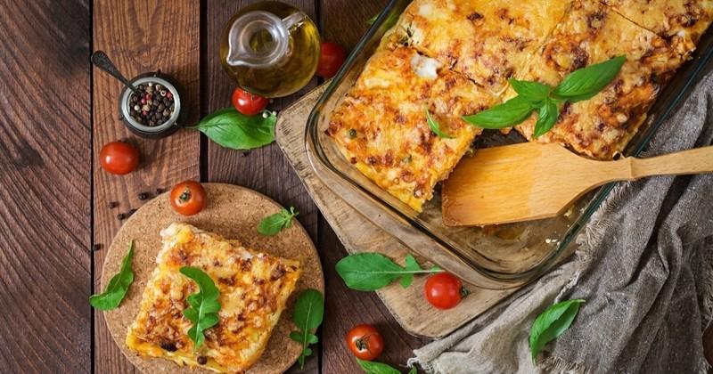 lasagnes à la sauce tomate et à l'aubergine !