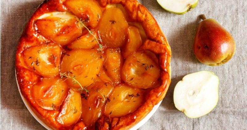 Tarte tatin aux poires caramélisée